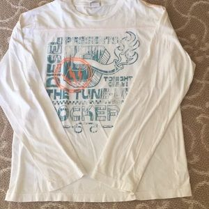 Boy's Diesel White Long  Sleeve Tee Size xxl